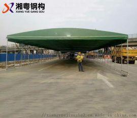 广东厂家订做汽车帆布雨棚展览展会伸缩遮阳雨棚