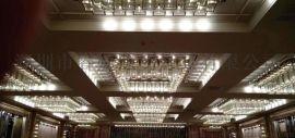 酒店大堂非标工程吊灯,水晶吊灯,LED吊灯