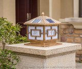 太陽能戶外燈庭院柱頭燈花園別墅燈圍牆燈花園燈