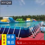 戶外大型游泳池定製充氣水池海洋球池充氣游泳池手搖船電動船水池