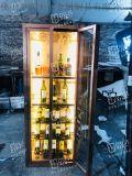 拉絲紅古銅迷你不鏽鋼酒櫃私人定製不鏽酒櫃書房酒櫃