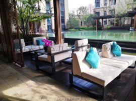 戶外田園不鏽鋼沙發茶幾 休閒凳廠家批量定做
