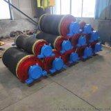 耐磨聚氨酯无动力改向滚筒 500涨紧包胶改向滚筒