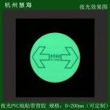 各類型工廠通用圓形參觀通道蓄光PVC地貼