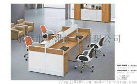屏风隔断职员办公桌四人位桌椅组合深圳屏风办公桌