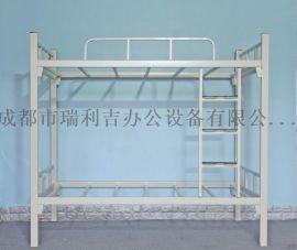 专业生产学校公寓床 四川双层床公寓床 钢架床公寓床