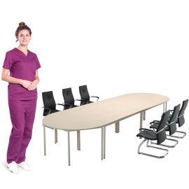 实木长条会议桌 SKZ704会议桌