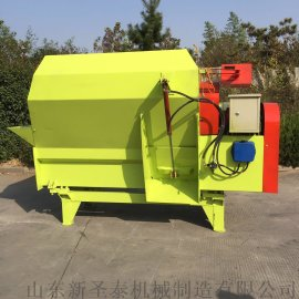 内蒙TMR养殖饲料搅拌机 牵引式全日粮青草拌料机