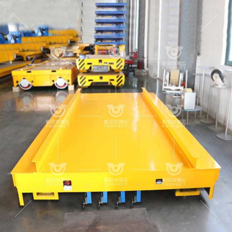低压轨道地轨平车 运输机械模具配件三相道轨平板车
