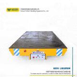 低壓軌道自動側翻液壓升降車間使用搬運平車