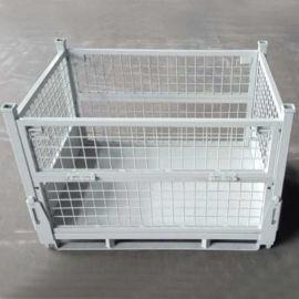 铁框 折叠网格金属箱 物流包装箱 折叠仓储笼