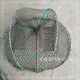 轻款螃蟹笼 章鱼笼 进口鱼网白单丝渔具