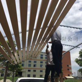 室外吊顶150mm宽木纹铝条扣滚涂铝条扣天花