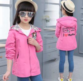 童装女童风衣2020春秋季新款韩版中长款时尚外套风衣小女孩上衣潮