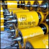 输送pu托辊双轴承耐磨聚氨酯轮