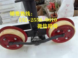 矿用猴车配件 托绳轮 配套双托轮组厂家 朔州压绳轮