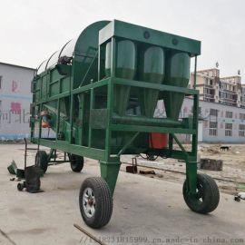 移动式环保脉冲滚振筛用于清除粮食中的叶糠壳尘土瘪粮等
