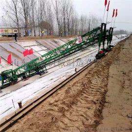 大型河渠混凝土摊铺机 全自动滑道自行走河渠成型机