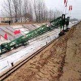 大型河渠混凝土攤鋪機 全自動滑道自行走河渠成型機