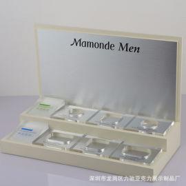 **化妆品展示架深圳力驰亚克力化妆品展台