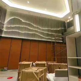 形象墙格栅铝方管 平面外墙格栅铝方通