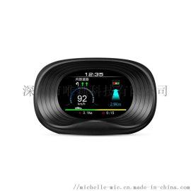 HUD加GPS坡度仪P18汽车抬头显示多功能测速仪