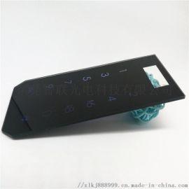 供应指纹锁玻璃 密码门禁面板玻璃 玻璃丝印加工厂