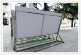 不鏽鋼廣告牌水牌L腳展示架指示牌歡迎牌立式導向牌