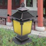 湖南长沙厂家太阳能防水花园围墙景观led方形柱头灯