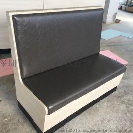 皮制软包沙发订造,简约家私卡座沙发,防火证书家具厂