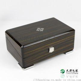 供应奢华钢琴漆木盒定制 实木高光喷漆抛光手表盒
