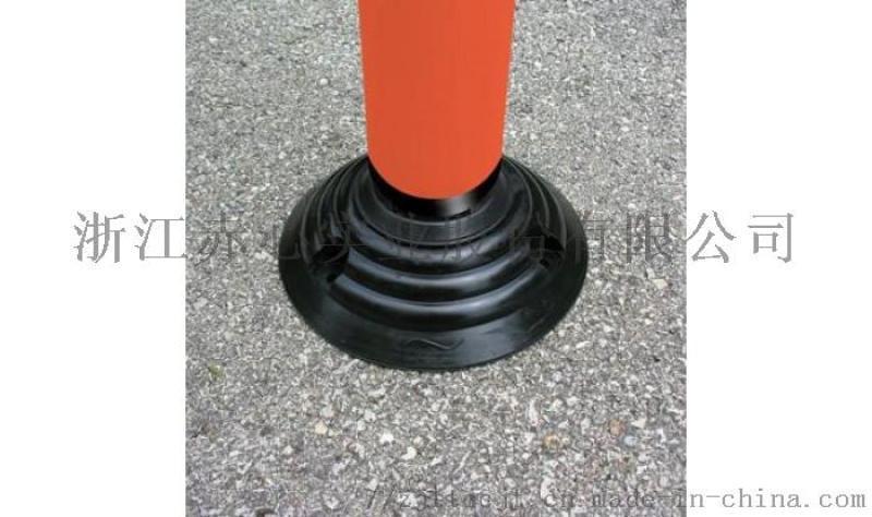 厂家生产高80cm分道柱反光立柱 **弹**通警示