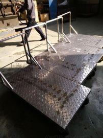 不锈钢拖车  厨房设备不锈钢推车 车间医院平板推车