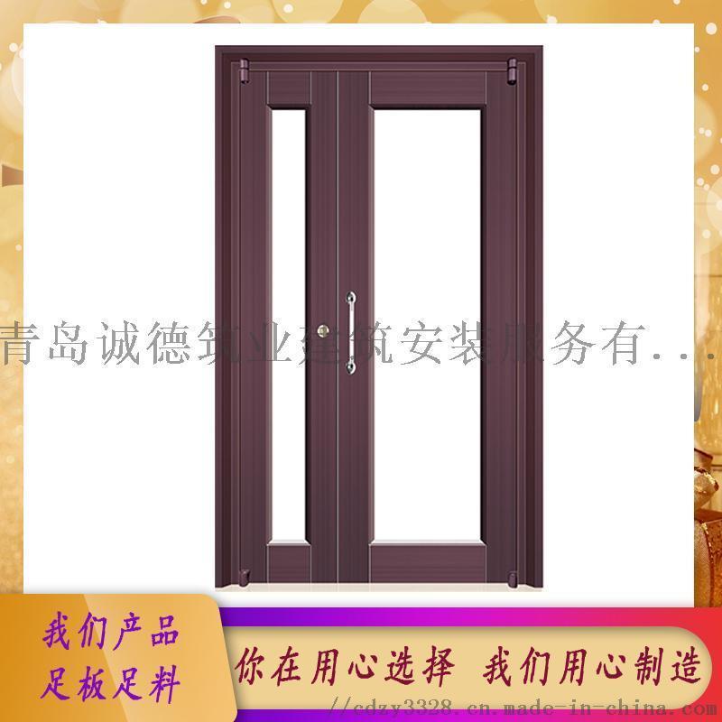 即墨生產單元門 樓宇防盜門 玻璃對講門 廠家供應
