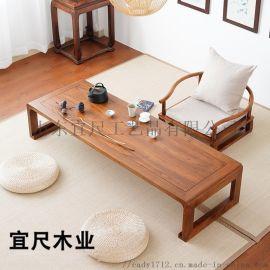 山东新中式榻榻米茶几桌椅组合功夫泡茶桌家用小茶几