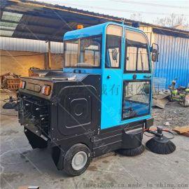 小型驾驶式吸尘洒水电动扫地车
