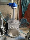 DN500鑄鋼刀閘閥傘齒輪刀型閘閥