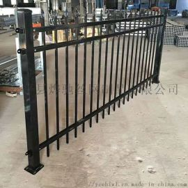 农家院黑色铁艺护栏 农场方管锌钢栏杆