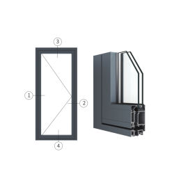 广东兴发铝材创高AL5418A|B系列外平开门