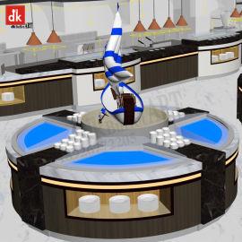 自助餐臺供應商直銷 歐式自助餐臺定制 刺身臺明檔設計大理石餐臺