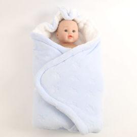 新生儿抱被秋冬款婴儿裹被防惊跳方形睡袋加厚外出襁褓