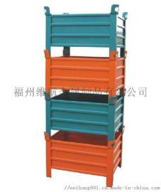 福建生产厂家直销金属镀锌折叠式仓库笼 周转铁框