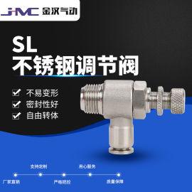 SS304 不锈钢气管快插调节阀