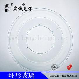 订制高平面度高透光筛选机沟沟玻璃盘、打孔圆盘玻璃