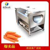 中型毛刷清洗去皮机 广西马蹄清洗机 土豆生姜清洗机