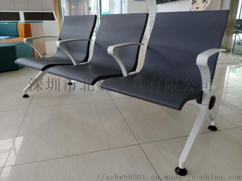 深圳北魏三人位铁排椅及坐垫