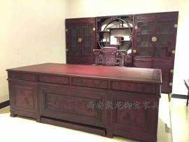 西安仿古家具│仿古办公桌│红木办公桌│实木办公桌│实木家具供应
