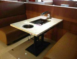 韩式烤肉店餐桌哪里定制,火锅店自助烤肉餐桌尺寸价格