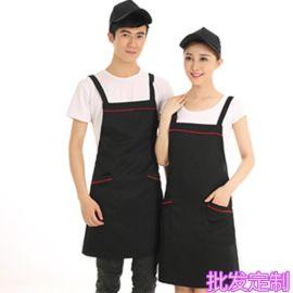 挂脖围裙定制logo广告围裙超市工作围裙男女酒店餐厅咖啡店服务员