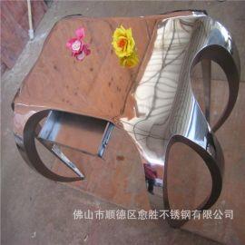天津哑光青古铜不锈钢茶几支架 不定尺造型不锈钢仿古铜工艺件